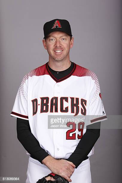 Brad Ziegler of the Arizona Diamondbacks poses during Photo Day on Sunday February 28 2016 at Salt River Fields at Talking Stick in Scottsdale Arizona