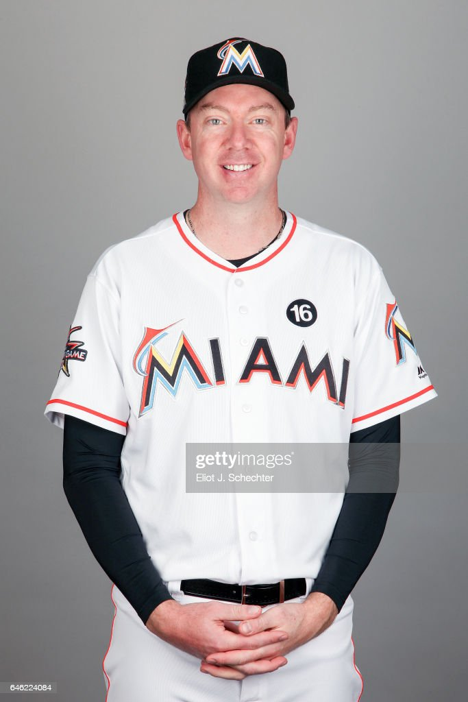 Brad Ziegler #29 of the Miami Marlins poses during Photo Day on Saturday, February 18, 2017 at Roger Dean Stadium in Jupiter, Florida.