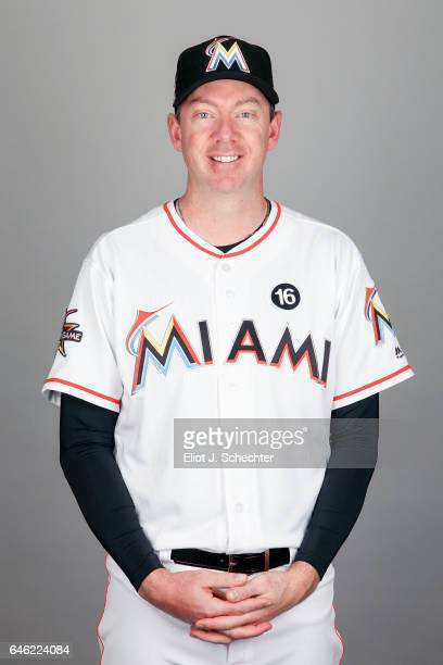 Brad Ziegler of the Miami Marlins poses during Photo Day on Saturday February 18 2017 at Roger Dean Stadium in Jupiter Florida
