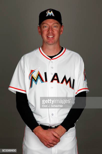 Brad Ziegler of the Miami Marlins poses during Photo Day on Thursday February 22 2018 at Roger Dean Stadium in Jupiter Florida