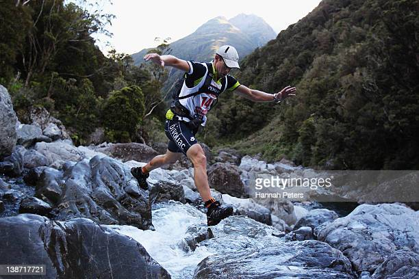 Braden Currie competes in the Individual One Day event during the 2012 Speights Coast to Coast on February 11 2012 in Greymouth New Zealand