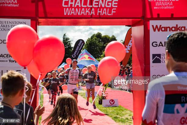 Braden Currie of NZ finishing as runner up in the Pro Half event at the 2018 Challenge Wanaka on February 17 2018 in Wanaka New Zealand