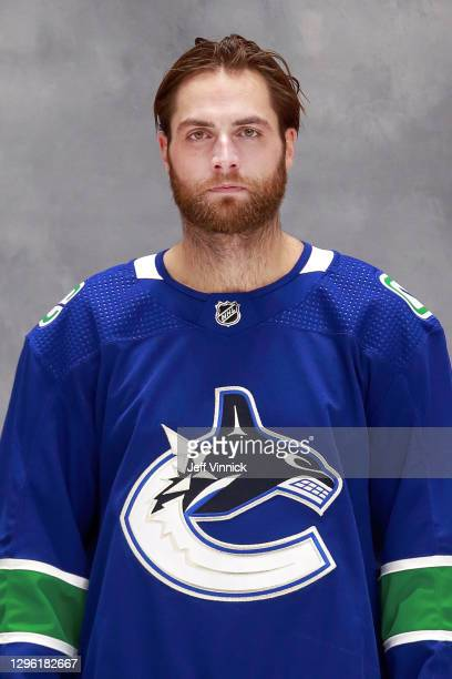 Braden Holtby of the Vancouver Canucks poses for his official headshot for the 2020-2021 season on January 4, 2021 at Rogers Arena in Vancouver,...