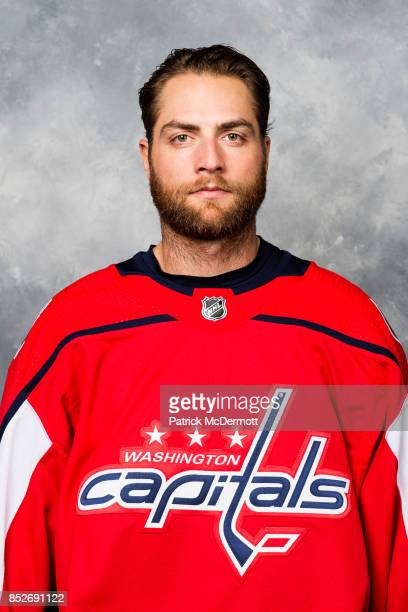 Braden Holtby of the Washington Capitals poses for his official headshot for the 20172018 season on September 14 2017 at Kettler Capitals Iceplex in...