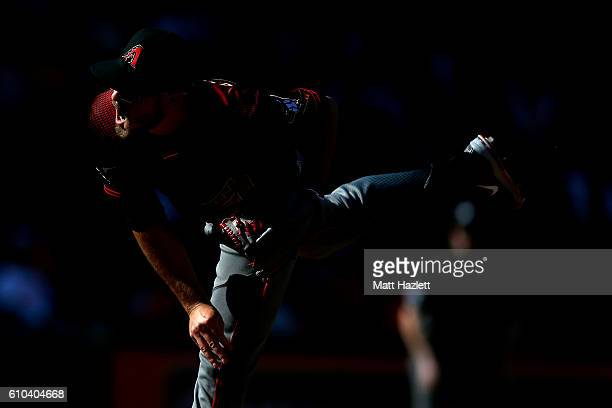 Braden Shipley of the Arizona Diamondbacks works in the sixth inning against the Baltimore Orioles at Oriole Park at Camden Yards on September 25...