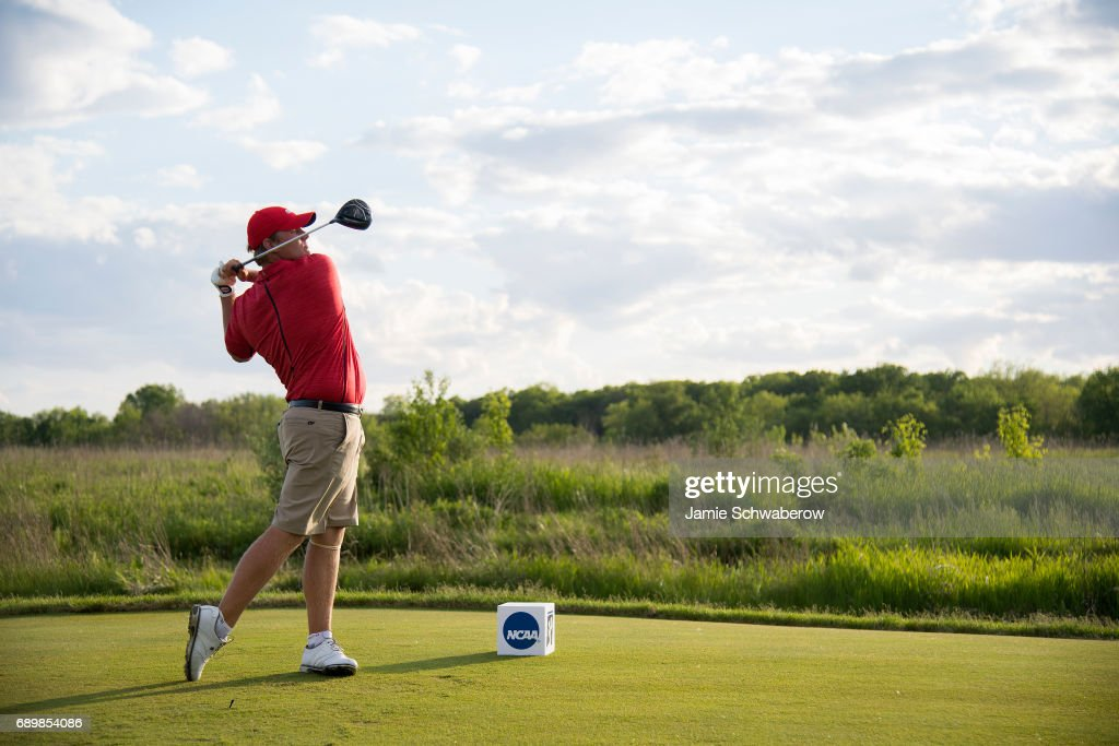 Braden Thornberry of Ole Miss tees off during the Division I Men's Golf Individual Championship held at Rich Harvest Farms on May 29, 2017 in Sugar Grove, Illinois.