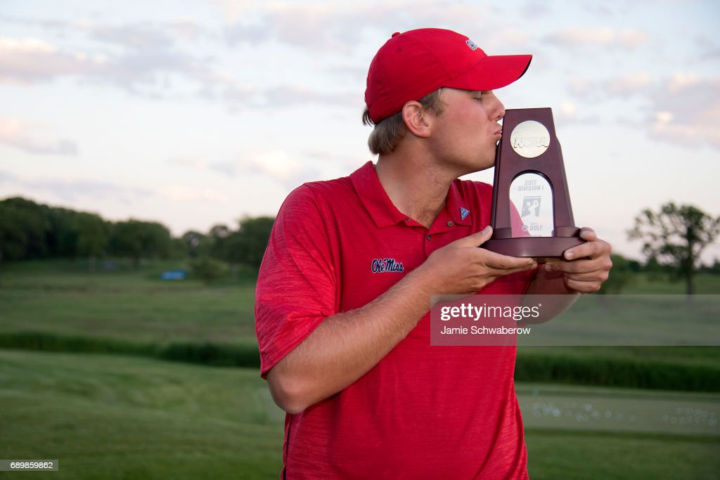 Braden Thornberry of Ole Miss wins the individual title during the Division I Men's Golf Individual Championship held at Rich Harvest Farms on May 29, 2017 in Sugar Grove, Illinois. Thornberry won the individual national title with a -11 score.