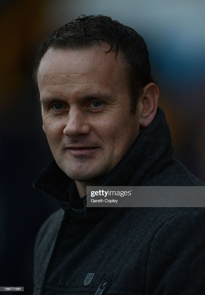 Bradford Bulls coach Francis Cummins during Rugby League pre-season friendly between Leeds Rhinos and Bradford Bulls at Headingley Stadium on January 20, 2013 in Leeds, England.