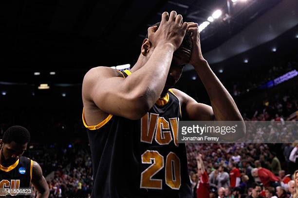 Bradford Burgess of the Virginia Commonwealth Rams walks off the court after losing to the Indiana Hoosiers 63-61 during the third round of the 2012...