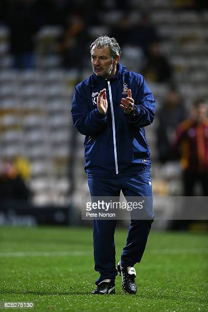 Bradford City assistant manager Kenny Black during the pre match warm up prior to the Sky Bet League One match between Bradford City and Northampton...