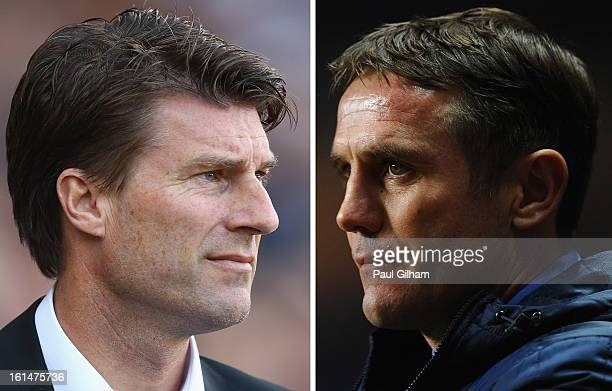 FILE PHOTO COMPOSITE OF TWO IMAGES a comparison has been made between Michael Laudrup and Phil Parkinson Original image ids are 153538325 159924672...