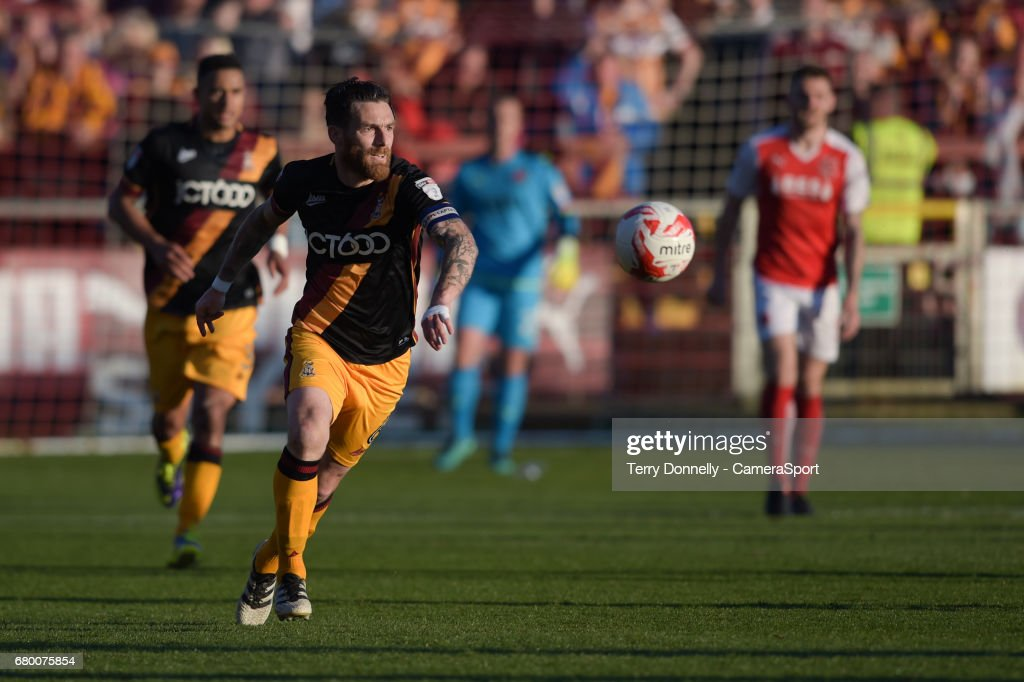 Bradford City's Romain Vincelot during the Sky Bet League One Play-Off Semi-Final Second Leg match between Fleetwood Town and Bradford City at Highbury Stadium on May 7, 2017 in Fleetwood, England.