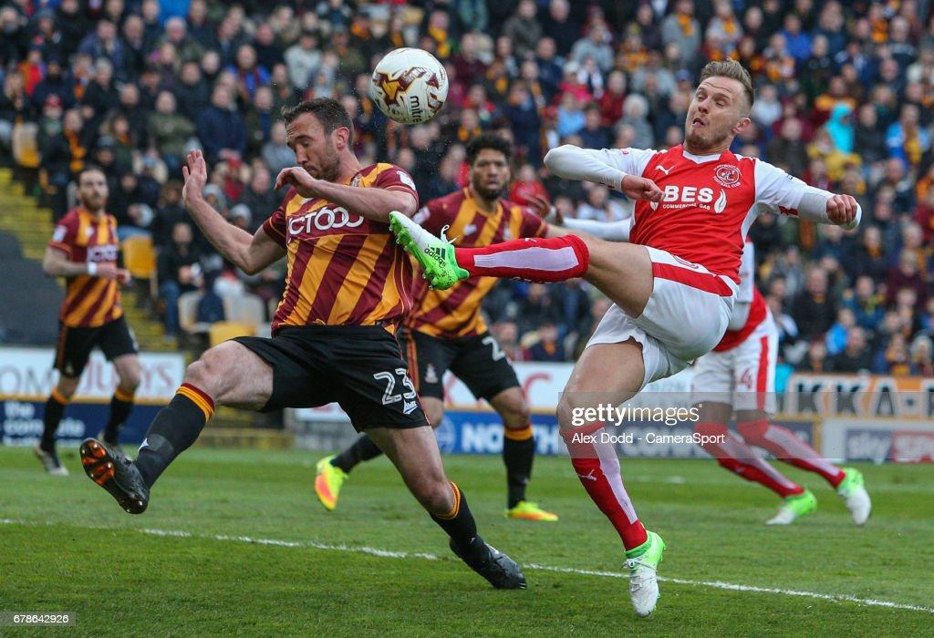Bradford City v Fleetwood Town: Sky Bet League One Playoff Semi Final: First Leg : News Photo