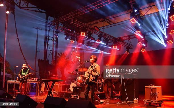 Bradford Cox and Deerhunter perform during the Treasure Island Music Festival on Treasure Island on October 18, 2015 in San Francisco, California.