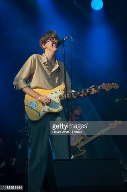 Bradford Cox from Deerhunter performs at Rock en Seine on August 25, 2019 in Saint-Cloud, France.