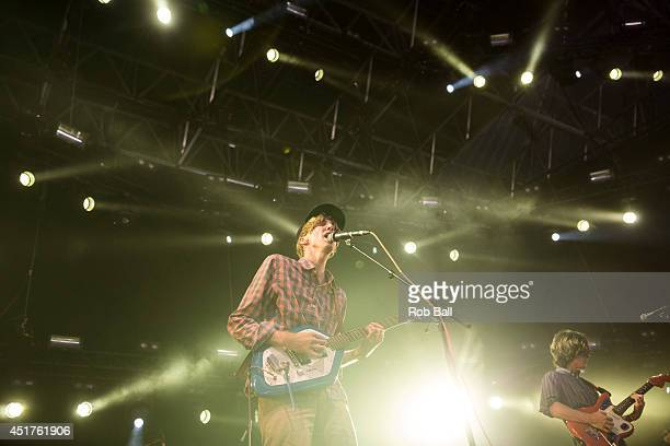 Bradford Cox from Deerhunter performs at the Roskilde Festival 2014 on July 6, 2014 in Roskilde, Denmark.