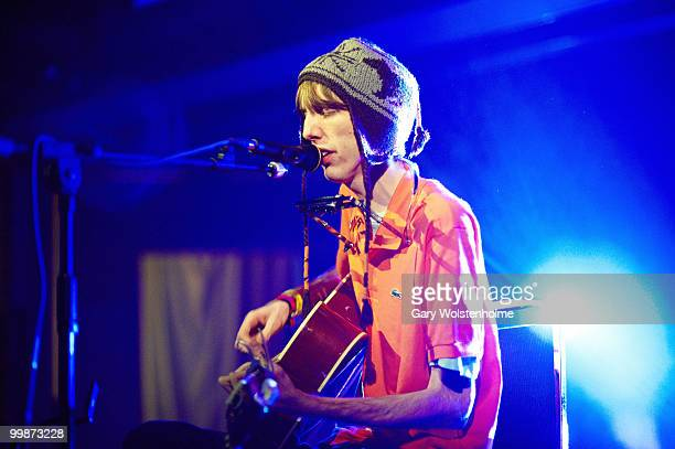 Bradford Cox of Atlas Sound performs on stage during day two of Pavement Curated All Tomorrow's Parties Festival at Butlins Holiday Centre on May 15...