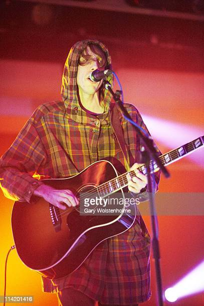 Bradford Cox of Atlas Sound performs on stage during the final day of ATP Festival curated by Animal Collective at Butlins Holiday Centre on May 15...