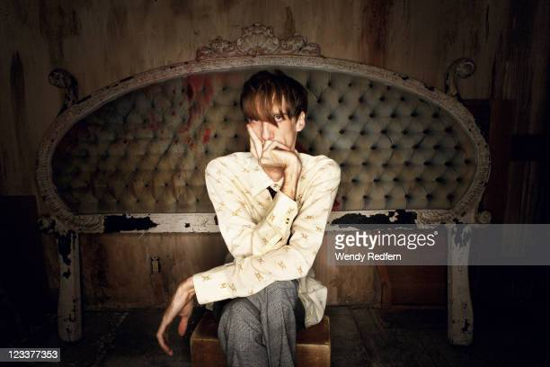 Bradford Cox of Deerhunter and Atlas Sound is photographed on November 10 2009 in Los Angeles California United States