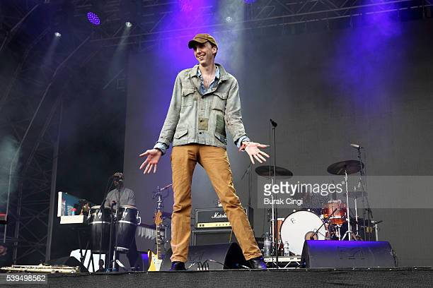 Bradford Cox of Deerhunter performs on day 1 of Field Day festival on June 11 2016 in London England