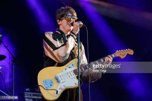 Bradford Cox of Deerhunter performs on stage during End Of The Road Festival 2019 at Larmer Tree Gardens on September 01 2019 in Salisbury England