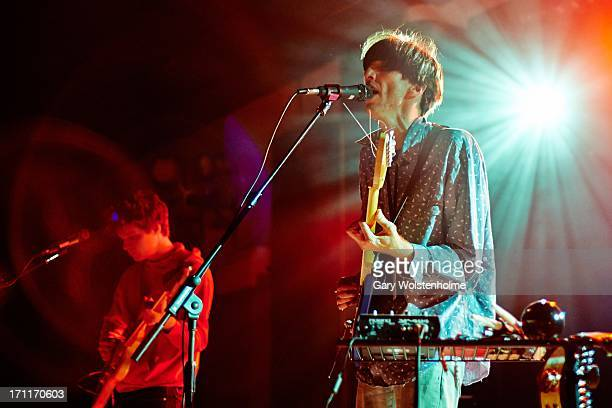 Bradford Cox of Deerhunter performs on stage on Day 2 of ATP Festival Curated by Deerhunter on June 22, 2013 in Camber, East Sussex.