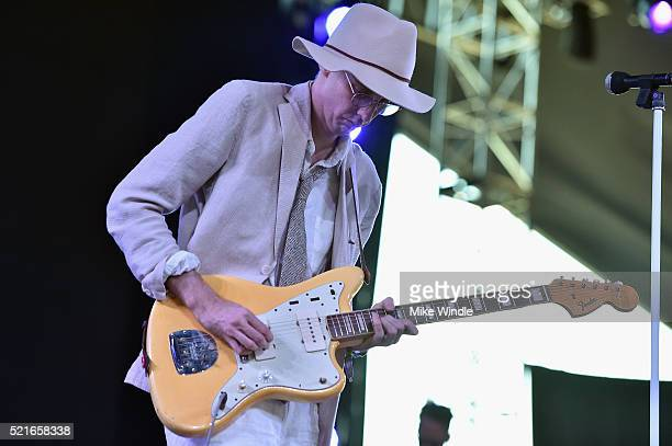 Bradford Cox of Deerhunter performs onstage during day 2 of the 2016 Coachella Valley Music & Arts Festival Weekend 1 at the Empire Polo Club on...