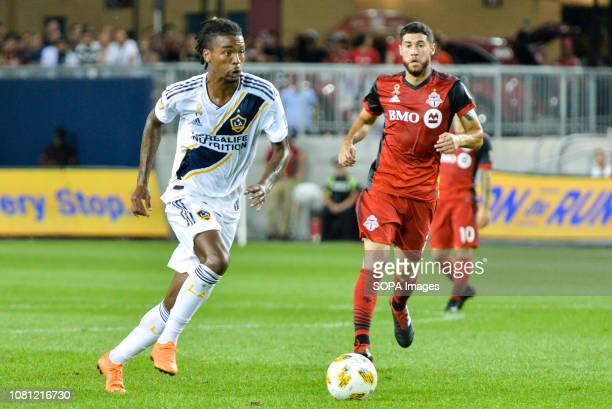 BMO FIELD TORONTO ONTARIO CANADA Bradford Jamieson with the ball during 2018 MLS Regular Season match between Toronto FC and LA Galaxy at BMO Field