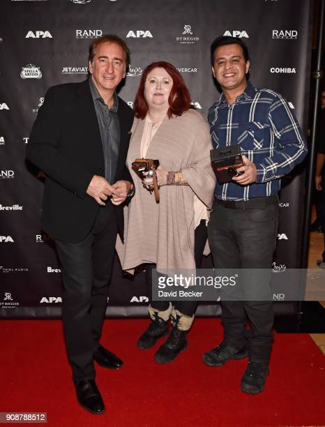 Bradford Rand Kate Elfatah and Gotham Chandna attend the APA reception at the RAND Luxury Escape during the 2018 Sundance Film Festival at The St...