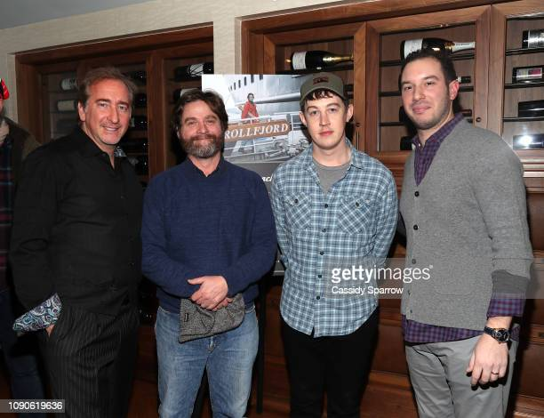 Bradford Rand Zach Galifianakis Alex Sharp and Alex Reiff attend Beachside Film's Private Dinner For The Sunlit Night Hosted By The RAND Luxury...