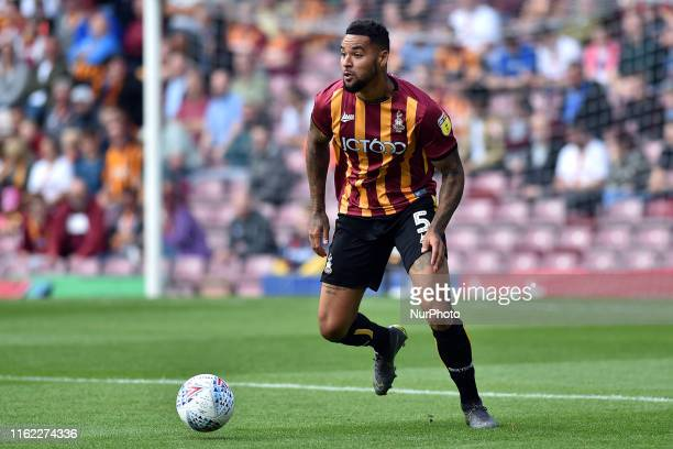 Bradford's Ben RichardsEverton in action during the Sky Bet League 2 match between Bradford City and Oldham Athletic at the Coral Windows Stadium...