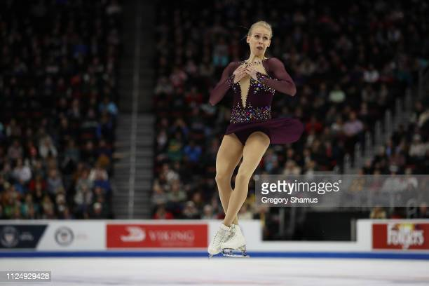 Bradie Tennell competes in the Championship Ladies Free Skate during the 2019 US Figure Skating Championships at Little Caesars Arena on January 25...