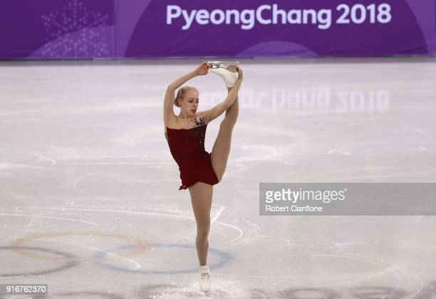 Bradie Tennell of the United States competes during the Figure Skating Team EventLadies Short Program on day two of the PyeongChang 2018 Winter...