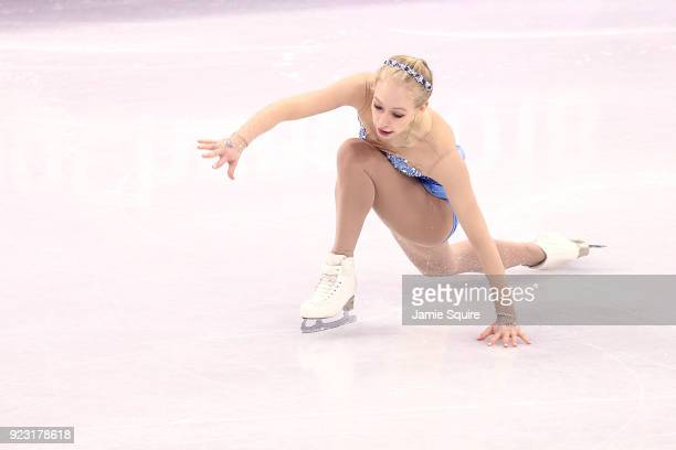 Bradie Tennell of the United States competes during the Ladies Single Skating Free Skating on day fourteen of the PyeongChang 2018 Winter Olympic...