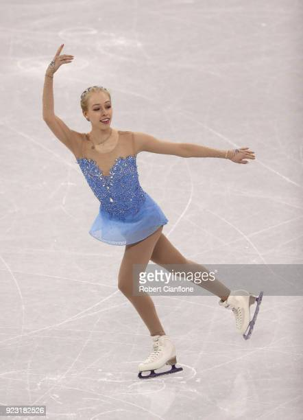 Bradie Tennell of the United States competes during the Ladies Single Skating Free Program on day fourteen of the PyeongChang 2018 Winter Olympic...