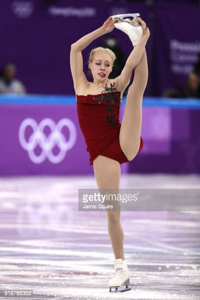 Bradie Tennell of the United States competes in the Figure Skating Team Event – Ladies' Short Program on day two of the PyeongChang 2018 Winter...