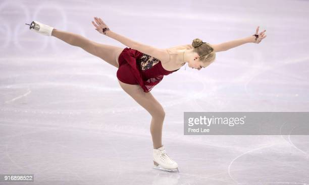 Bradie Tennell of the United States competes in the Figure Skating Team Event Ladies Short Program on day two of the PyeongChang 2018 Winter Olympic...