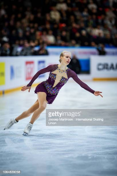 Bradie Tennell of the United States competes in the Ladies Free Skating during day 2 of the ISU Grand Prix of Figure Skating Internationaux de France...