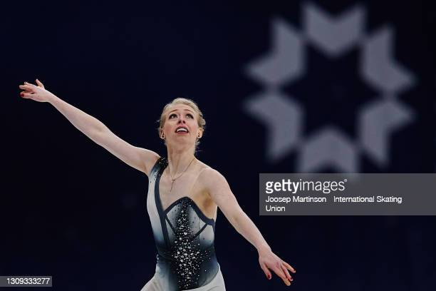 Bradie Tennell of the United States competes in the Ladies Free Skating during day three of the ISU World Figure Skating Championships at Ericsson...