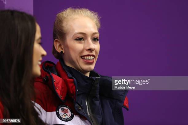 Bradie Tennell of the United States looks on during the Figure Skating Team Event – Pairs Free Skating on day two of the PyeongChang 2018 Winter...