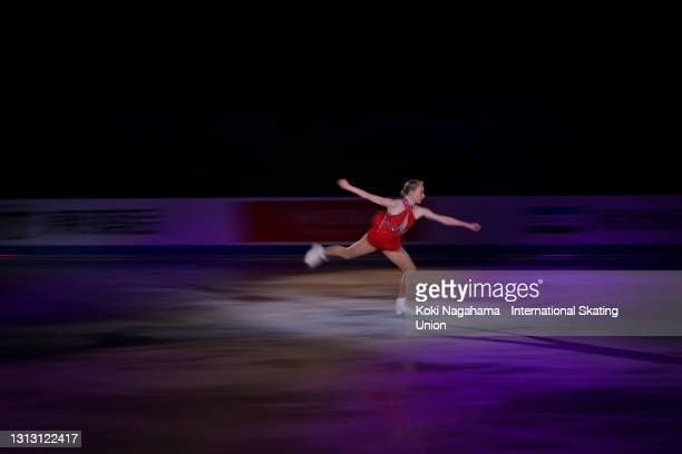Bradie Tennell of the United States performs during the gala exhibition of ISU World Team Trophy at Maruzen Intec Arena Osaka on April 18, 2021 in...
