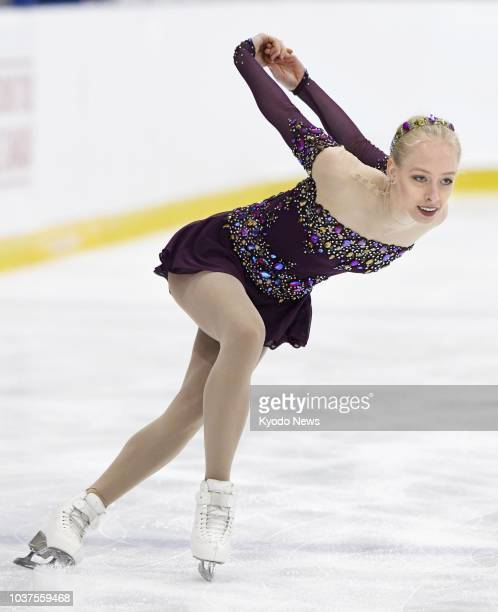 Bradie Tennell of the United States performs in the women's free program at the Autumn Classic International in Oakville Canada on Sept 21 2018...