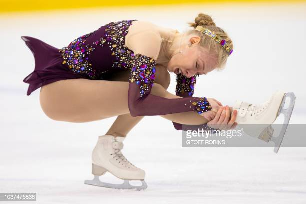 Bradie Tennell of the United States skates her free program in the women's competition at the 2018 Skate Canada Autumn Classic International event in...