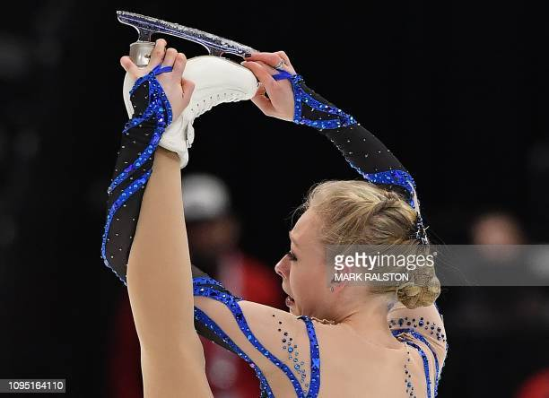 Bradie Tennell of the USA competes before finishing with the highest score in the Ladies Short Program during the ISU Four Continents Figure Skating...