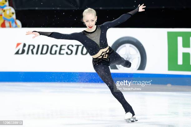 Bradie Tennell practices during the U.S. Figure Skating Championships at the Orleans Arena on January 13, 2021 in Las Vegas, Nevada.