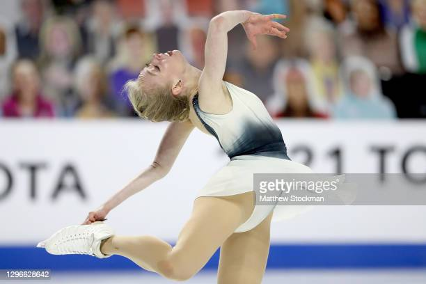 Bradie Tennell skates in the Ladies Free Skate during the U.S. Figure Skating Championships at Orleans Arena on January 15, 2021 in Las Vegas, Nevada.