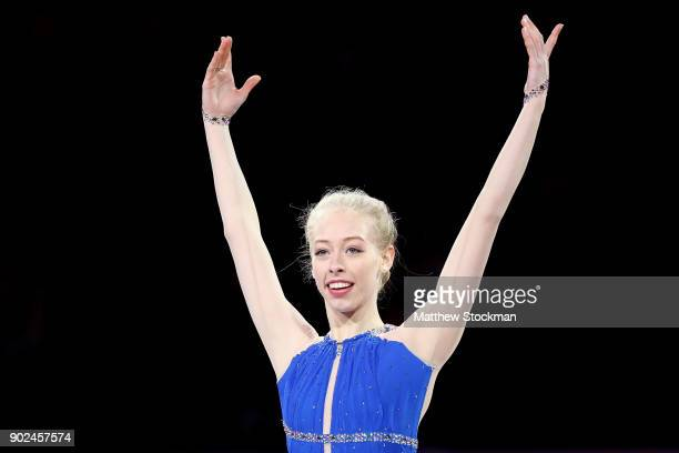 Bradie Tennell skates in the Smucker's Skating Spectacular during the 2018 Prudential US Figure Skating Championships at the SAP Center on January 7...