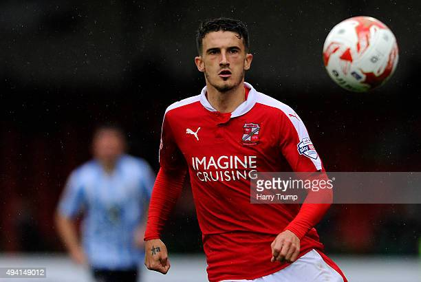 Bradley Barry of Swindon Town during the Sky Bet League One match between Swindon Town and Coventry City at The County Ground on October 24 2015 in...