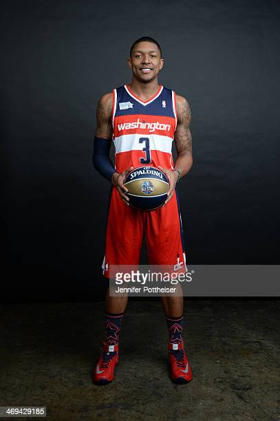 Bradley Beal of Team Hill poses for a portrait prior to the BBVA Compass Rising Stars Challenge 2014 as part of the 2014 NBA AllStar Weekend on...
