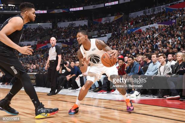 Bradley Beal Of Team LeBron handles the ball during the NBA AllStar Game as a part of 2018 NBA AllStar Weekend at STAPLES Center on February 18 2018...